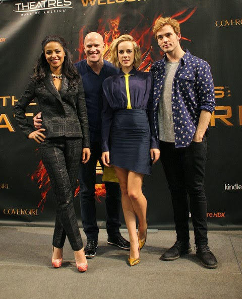 Jena Malone, Sam Claflin, Bruno Gunn and Meta Golding