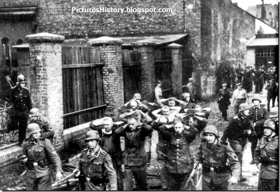 SS soldiers Polish employees Danzig post office   September 1, 1939