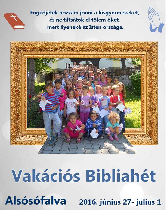 Vakációs Bibliahét - 2016