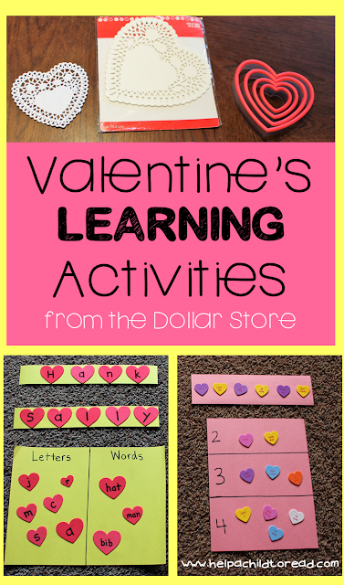 Simple at home Valentine's activities for preschoolers, name practice, sorting, patterns, early childhood Valentines' activities