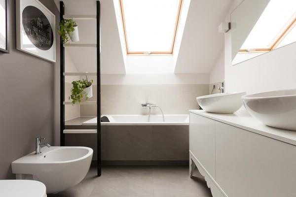 дизайн светлой ванной комнаты фото