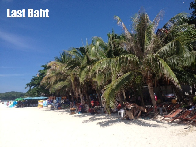 white sand beaches and palm trees on Koh Samet Island, Thailand