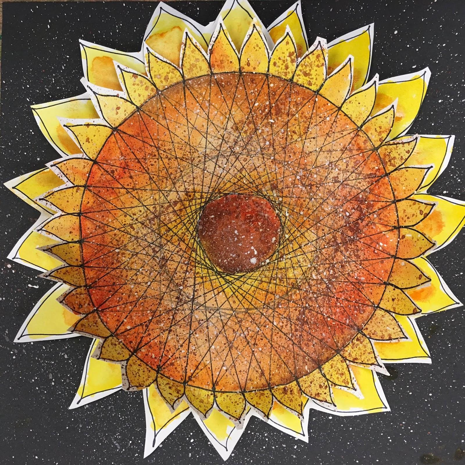 Art Room Blog Parabolic Curve Sunflowers