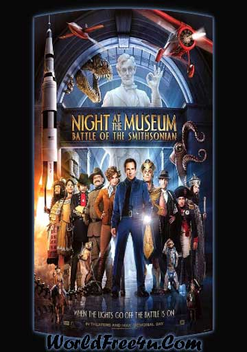Poster Of Night at the Museum 2 (2009) In Hindi English Dual Audio 300MB Compressed Small Size Pc Movie Free Download Only At worldfree4u.com