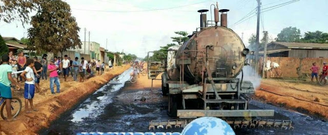 Tanque de piche explode e destrói caminhão em Rondônia