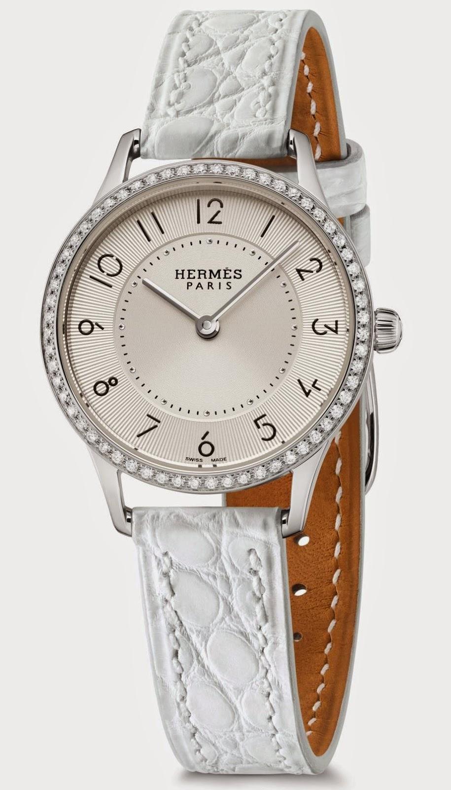 Slim d'Hermès Quartz watch, Steel, 25 mm