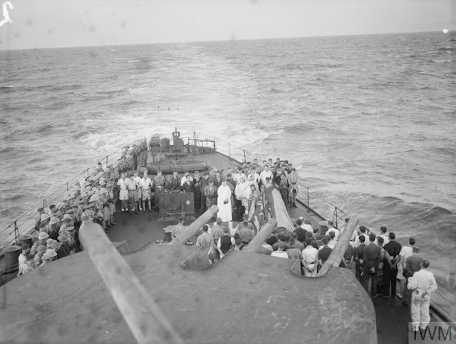 HMS Manchester burials at sea, 23 July 1941 worldwartwo.filminspector.com