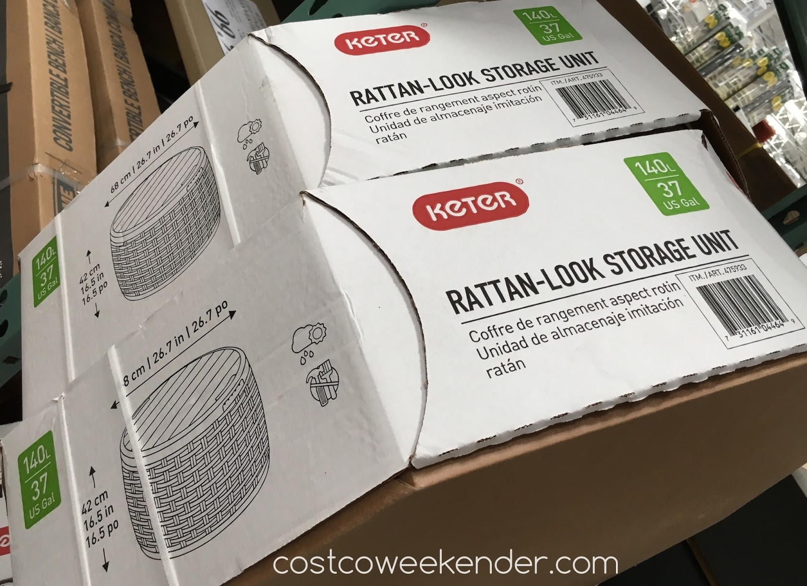 Costco Coffee Table Keter Rattan Look Storage Unit Costco Weekender