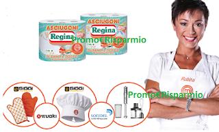 Logo Asciugoni Regina ti regala frullatori, kit da cucina e Wuaki