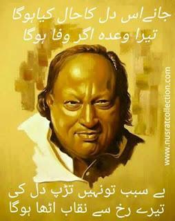 Lyrics Jaane Iss Dil Ka Haal Kia Ho Ga Nusrat Fateh Ali Khan
