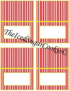 Circus Food Cards-Blank to write or type your own words