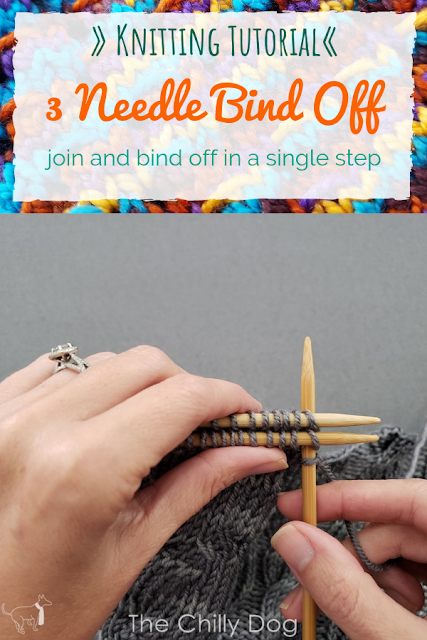Knitting  Video Tutorial: Join and bind off in a single step with the three needle bind off