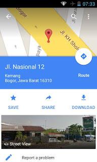 fitur Map Offline Google Maps