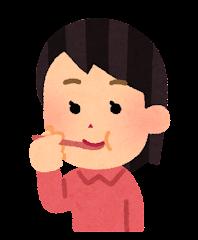 五感のイラスト(味覚・女性)