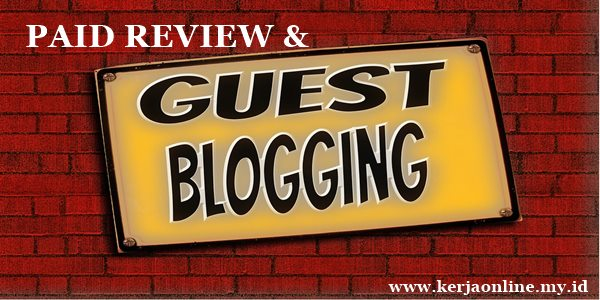 guest blogging dan paid review