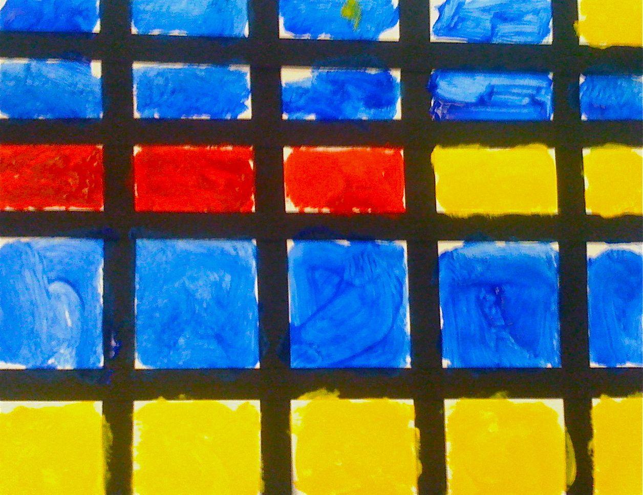 Kids Art Market Primary Colors With Mondrain