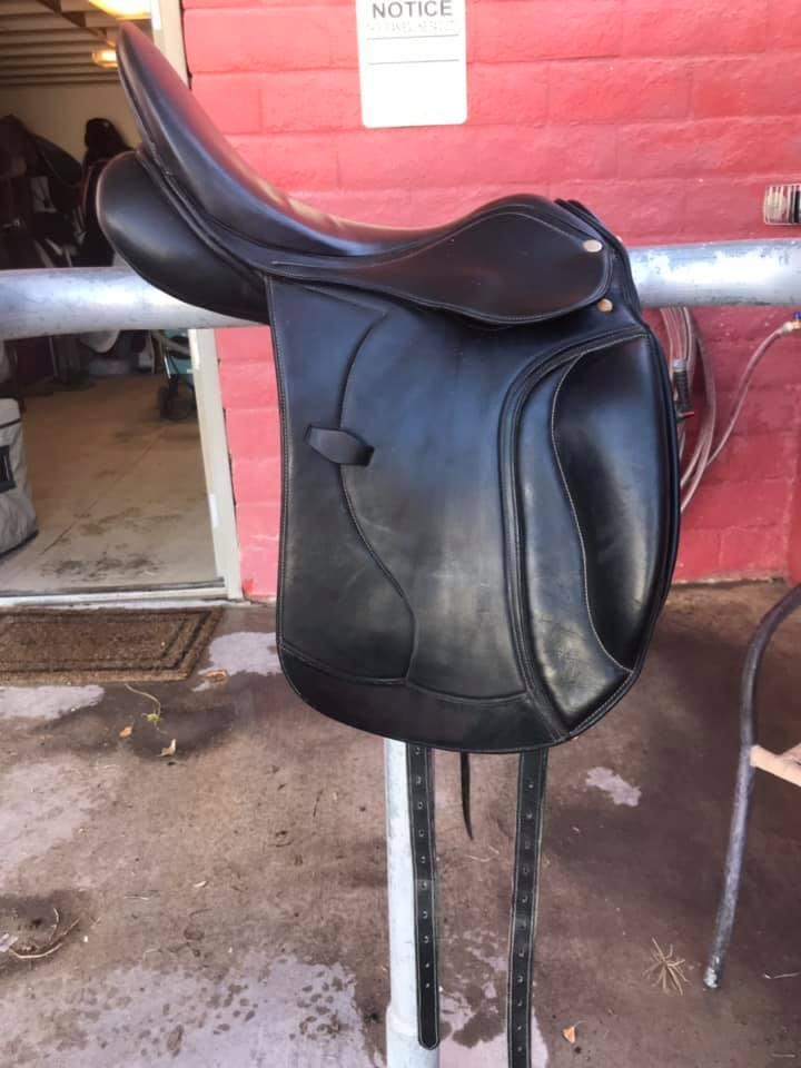 The Jumping Percheron: For Sale: Dressage Saddle & Equisense Motion