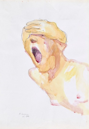 Maria Lassnig - Untitled (Screaming Woman), 1981