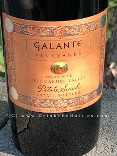 2015 Galante Vineyards Olive Hill Petite Sirah label