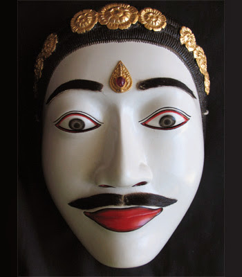 Gambar Topeng Tradisional Bali Pria Seni Budaya Indonesia