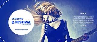 Fazer Inscrição 2017 Festival Samsung-E Instrumental