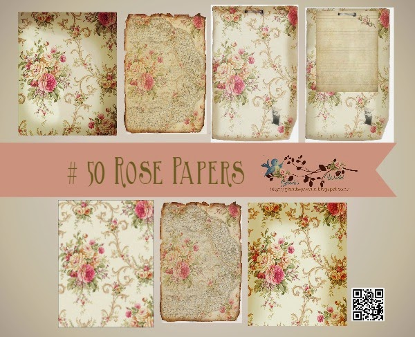 #50 Rose Papers & Journal Cards