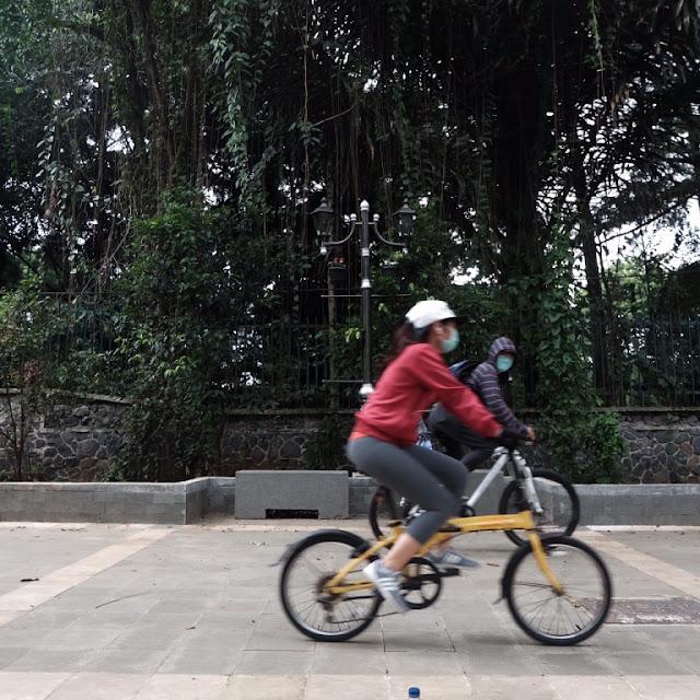 pedestrian bogor, lawang salapan, kebun raya, jalur sepeda bogor