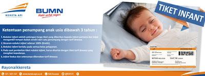 ATURAN TIKET KERETA API UNTUK UMUR ANAK 3 TAHUN KEBAWAH (INFANT)
