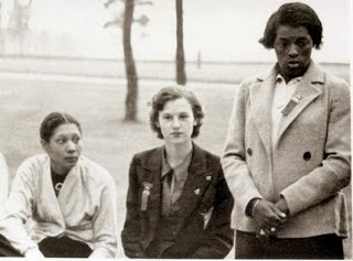 Tydie Pickett (far left) and Louise Stokes (far right)  Track and Field, 1936 Olympic Games