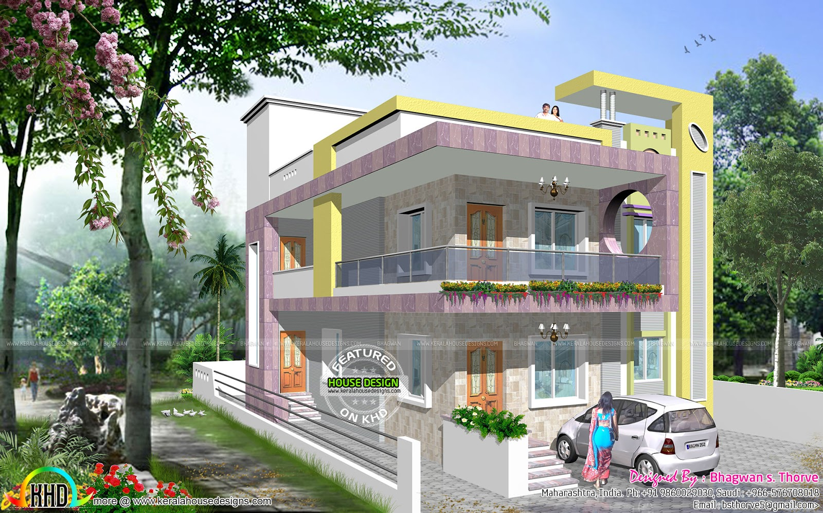 North indian modern decorative home kerala home design for North indian house plans with photos
