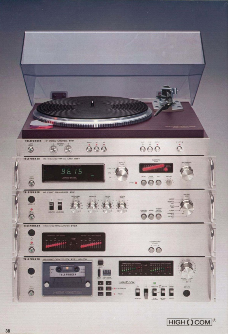 Infrequent Sound [sex tex] technology: Telefunken STM1 HiFi