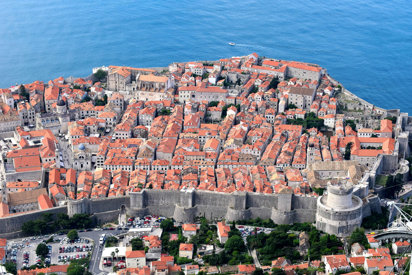 Old Town Dubrovnik view from the mountains