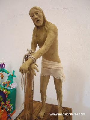 Escultura de Pasta de Caña hecha por artesanos michoacanos