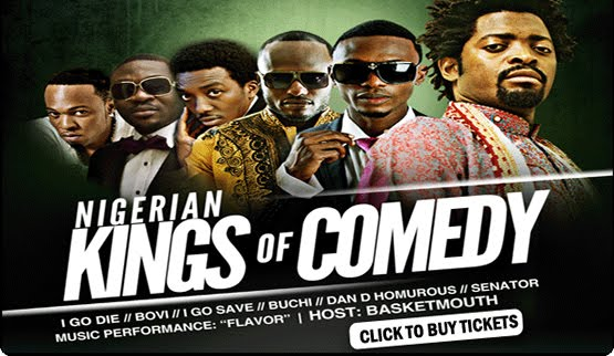 Nigerian Kings Of Comedy UK – Hosted by Basketmouth ft. Flavour & Davido Valentine 2012
