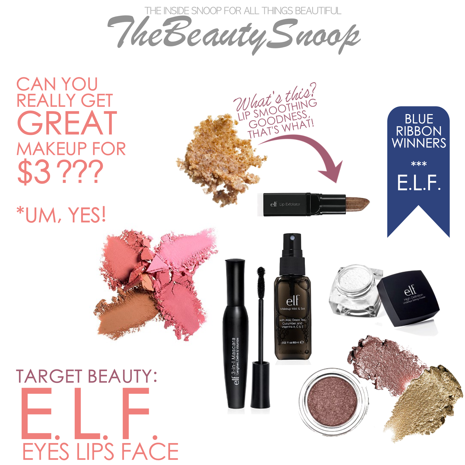 Target Beauty: ELF Makeup Review, E.L.F. Makeup, Budget Makeup, the best cheap makeup brands, Eyes Lips Face