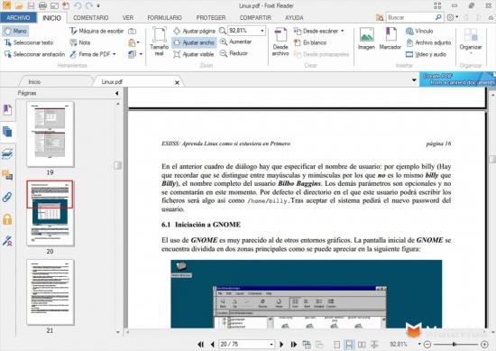 Sreenshots Foxit Reader PDF