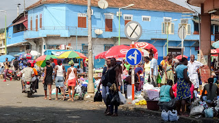 Everyone buys fresh fish in Sao Tome
