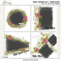 Template : Rose Garden 02 by Akizo Designs