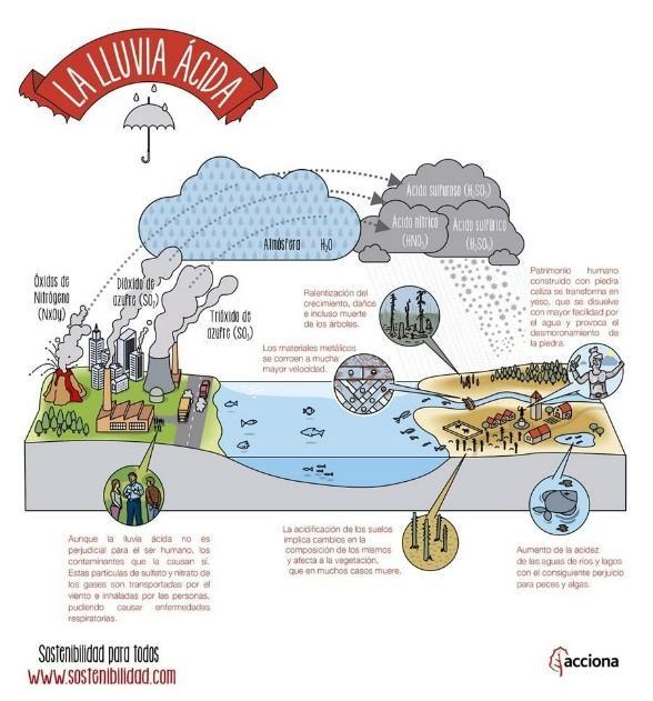 Causas y consecuencias de la lluvia acida