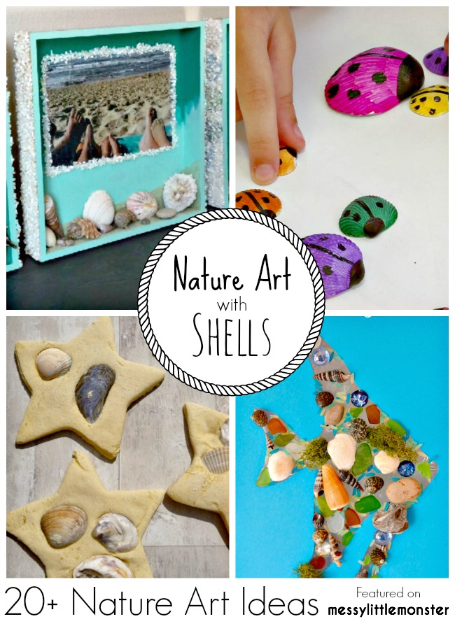 Nature Art & Craft Ideas for Kids using Sea Shells