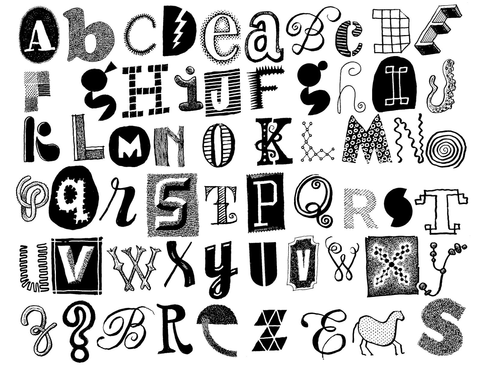 Don Moyer Sketchbook: Letters 104