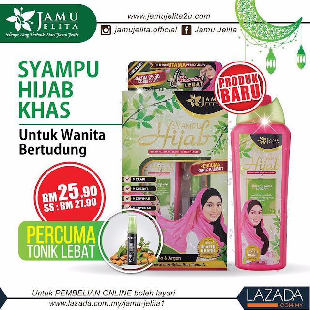 Syampu Hijab Jamu Jelita
