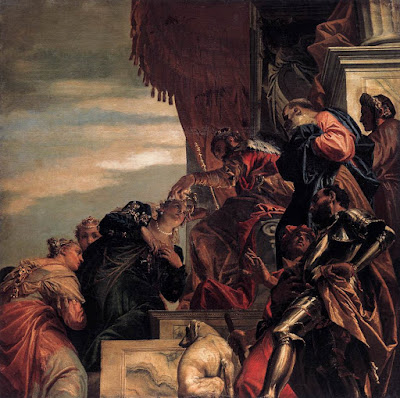 אסתר באה לפני אחשוורש - פאולו ורונזה 1556