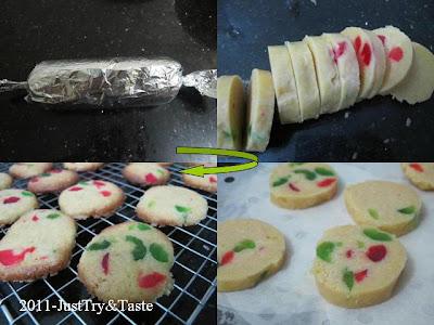 Resep Cherry Icebox Cookies