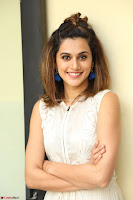 Taapsee Pannu in cream Sleeveless Kurti and Leggings at interview about Anando hma ~  Exclusive Celebrities Galleries 038.JPG