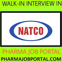 NATCO PHARMA LIMITED Walk In Drive For Multiple Positions at 17  November