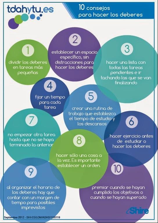 Resultado de imagen de 10 consejos para hacer los deberes