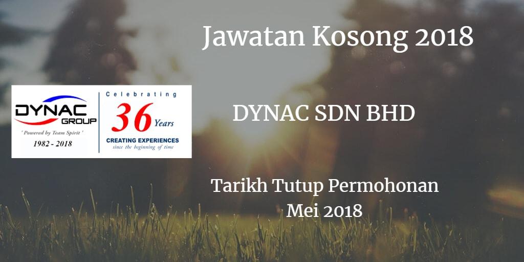 Jawatan Kosong DYNAC SDN BHD Mei 2018
