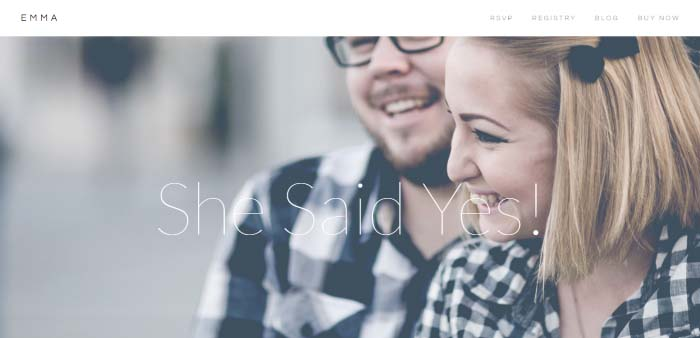 Emma - Responsive Wedding WordPress Theme