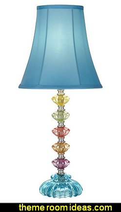 Bohemian Blue Stacked Glass Table Lamp